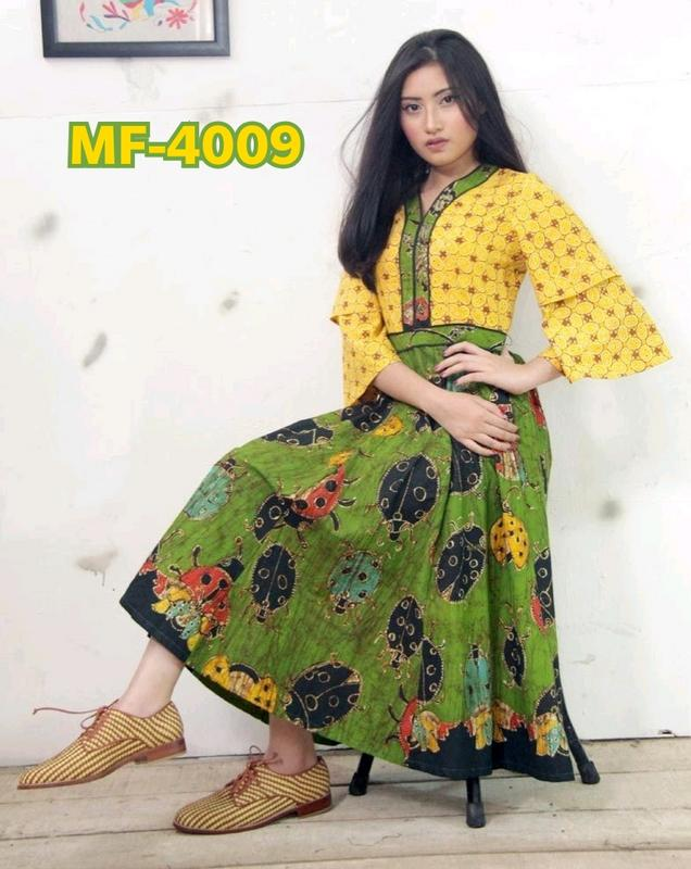 Harvi Vol-3 Green & Yellow One Piece Dress image
