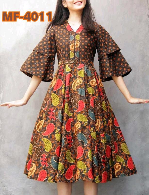 Harvi Vol-3 Brown Full Printed One Piece Dress