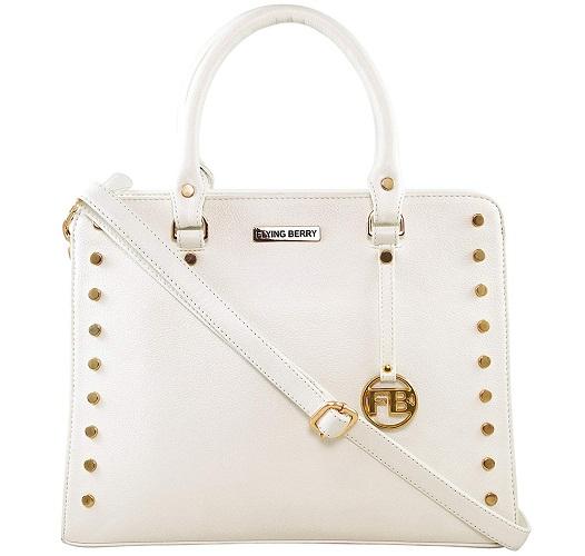Women's Handbag Combo In White Color (Set Of 3) image 2