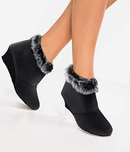 Latest Ankle Length Boots For Women In Black Color image 4