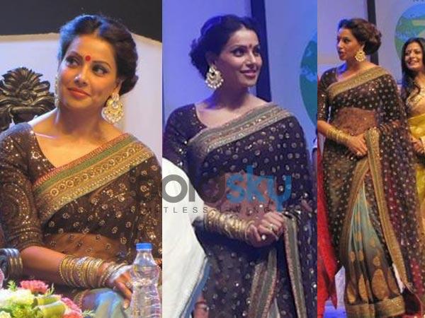 Bipasha Bridal Queen Saree ( 261 ) With Net & Row Silk Blouse image 2