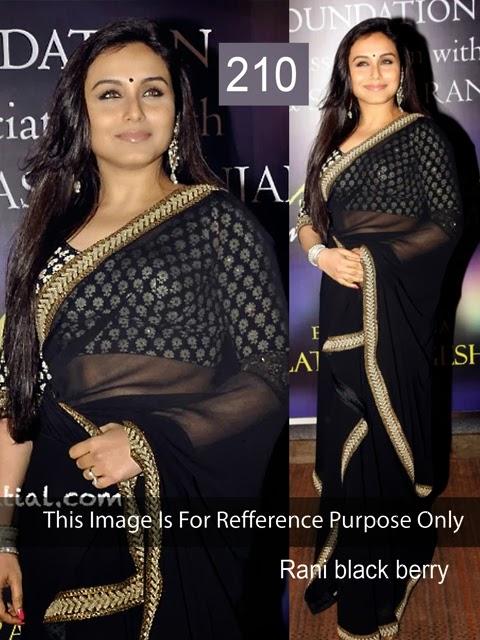Rani Black Saree With Bhagalpuri Print Blouse-(210)