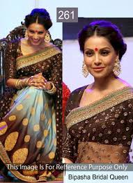 Bipasha Bridal Queen Saree ( 261 ) With Net & Row Silk Blouse image 1