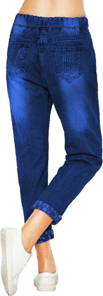 Jogger Fit Women Dark Blue Jeans image 2
