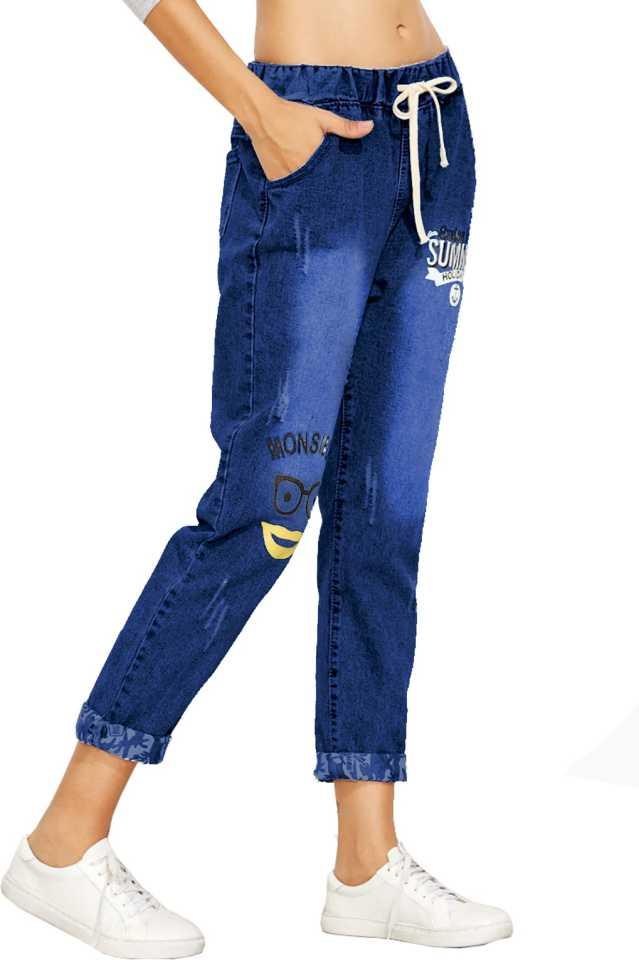 Jogger Fit Women Dark Blue Jeans image 3