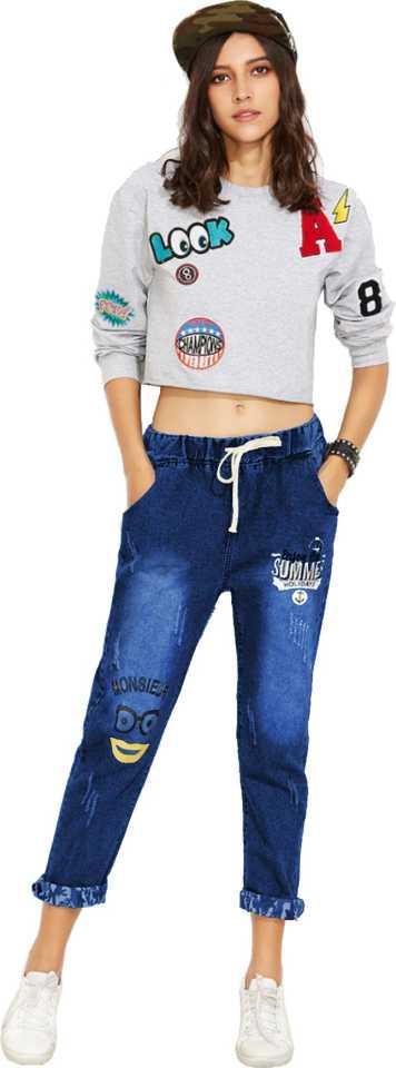 Jogger Fit Women Dark Blue Jeans